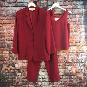 Doncaster 3 Piece Pant Suit 100% Silk